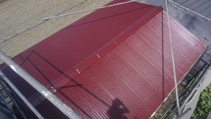 坂出市Y様。屋根塗装完成。